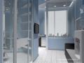3д визуализация офис стеклянные перегородки