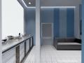 3д визуализация офис кухня