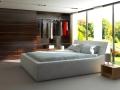 3д визуализация спальни