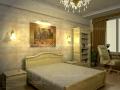 3д визуализация дизайн спальни кровать