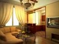 3д визуализация гостиной