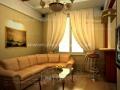 3д визуализация интерьера дизайн гостиной
