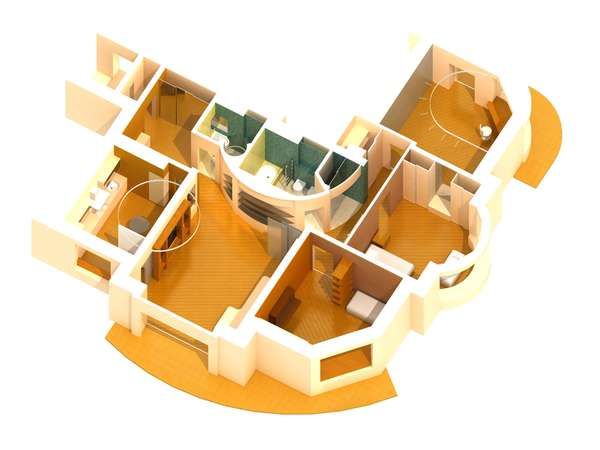 Axonometric 3D visualization