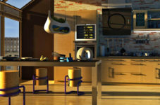 3d visualization of the kitchen